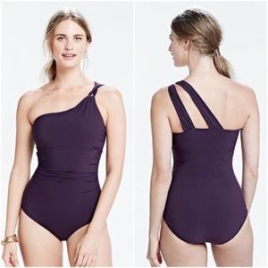 NEW Lands End Shape & Enhance One Shoulder Purple